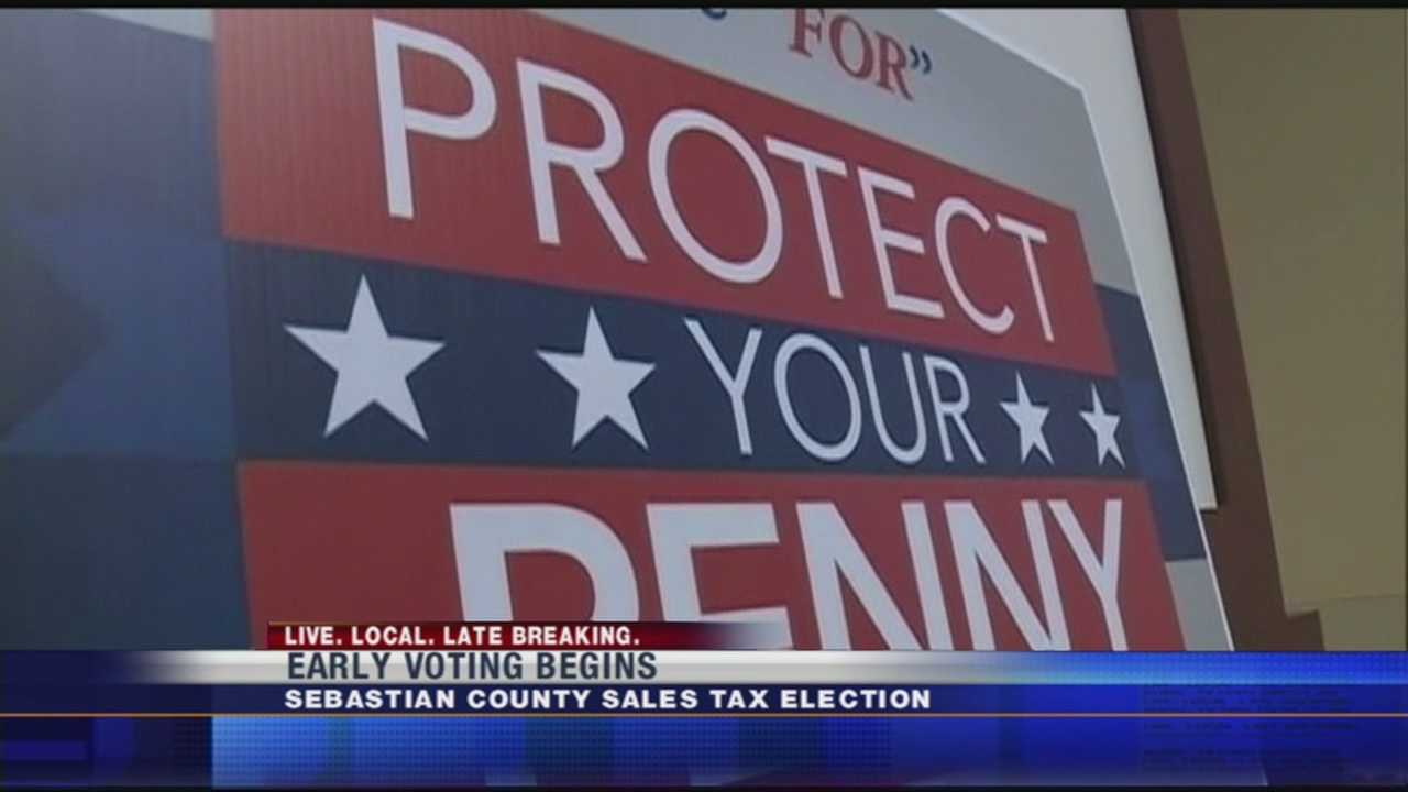 Early voting on 20 year sales tax begins today