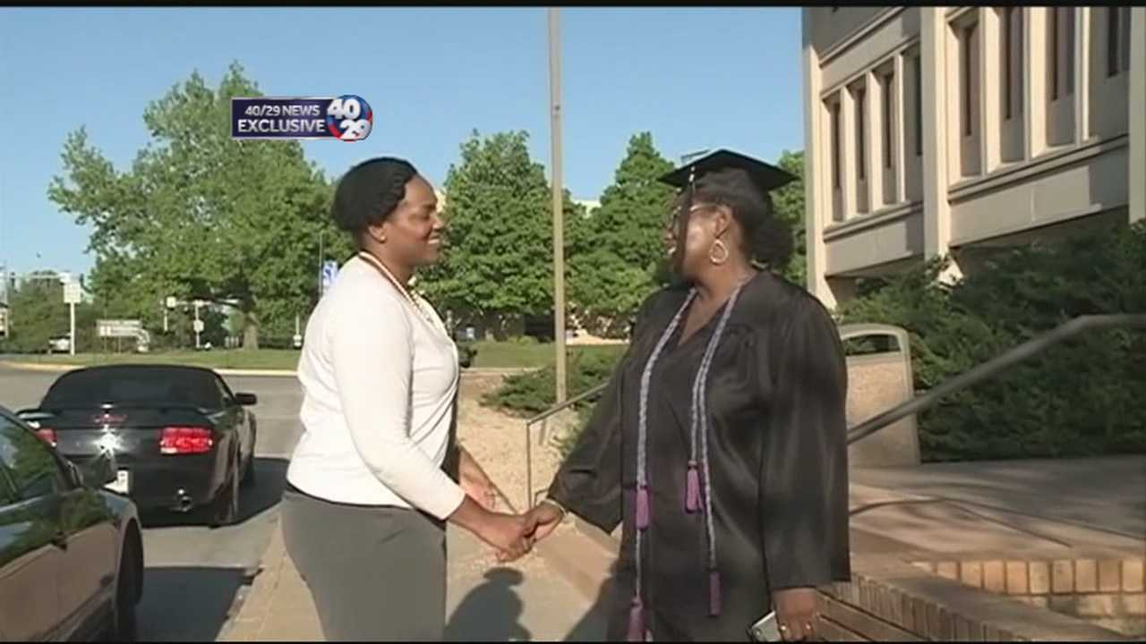 A local mother completes her lifelong goal of graduating college.