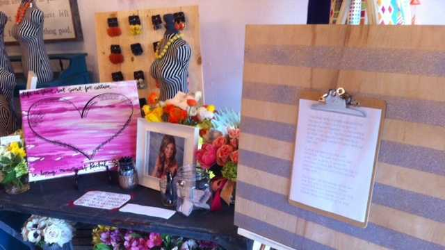 Riffraff set up a memorial Wednesday to honor Rachel Swetnam, an employee killed in a boating accident