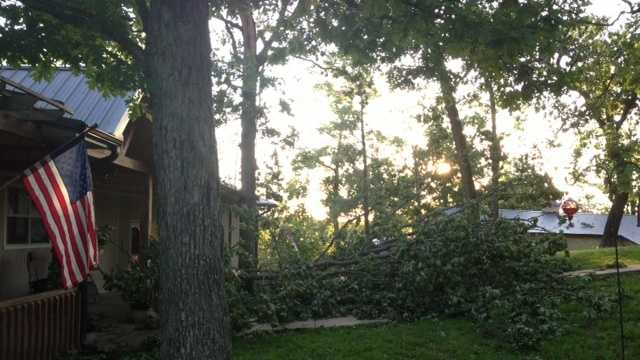 The National Weather Service confirmed a tornado touched down east of Rogers in the Rocky Branch area.