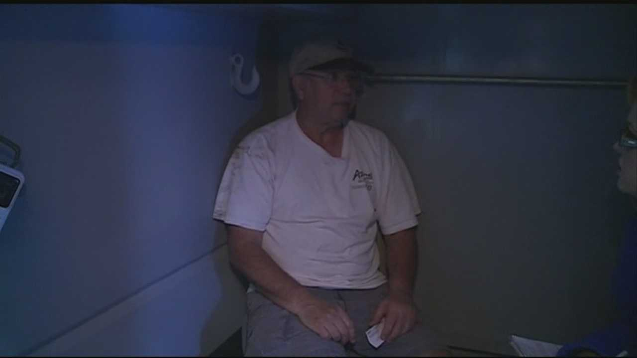 When and EF-0 tornado hit Siloam Springs Monday, one man opened up his specially-built shelter to neighbors.