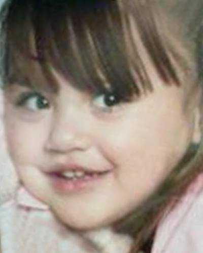 Alexa Galdamez was allegedly abducted from Springdale by her mother on August 26, 2010. She was nearly 3 years old. Police believe they may be in Mexico. Alexa's ears are pierced, and her hair may have been dyed red. She has tattoos on her right hand and on the right side of her upper back.