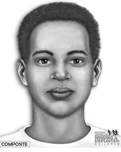 On August 12, 2001, the partial skull of an unidentified teenager was found int he woods by the Saint Francis River in Poinsett County, near the old siphons on Lock and Dam Road.  The skull belonged to an African American male between the ages of 16 and 19.  The boy's nose had been fractured at one point in time.  This picture shows an artist's estimation of what the boy may have looked like.