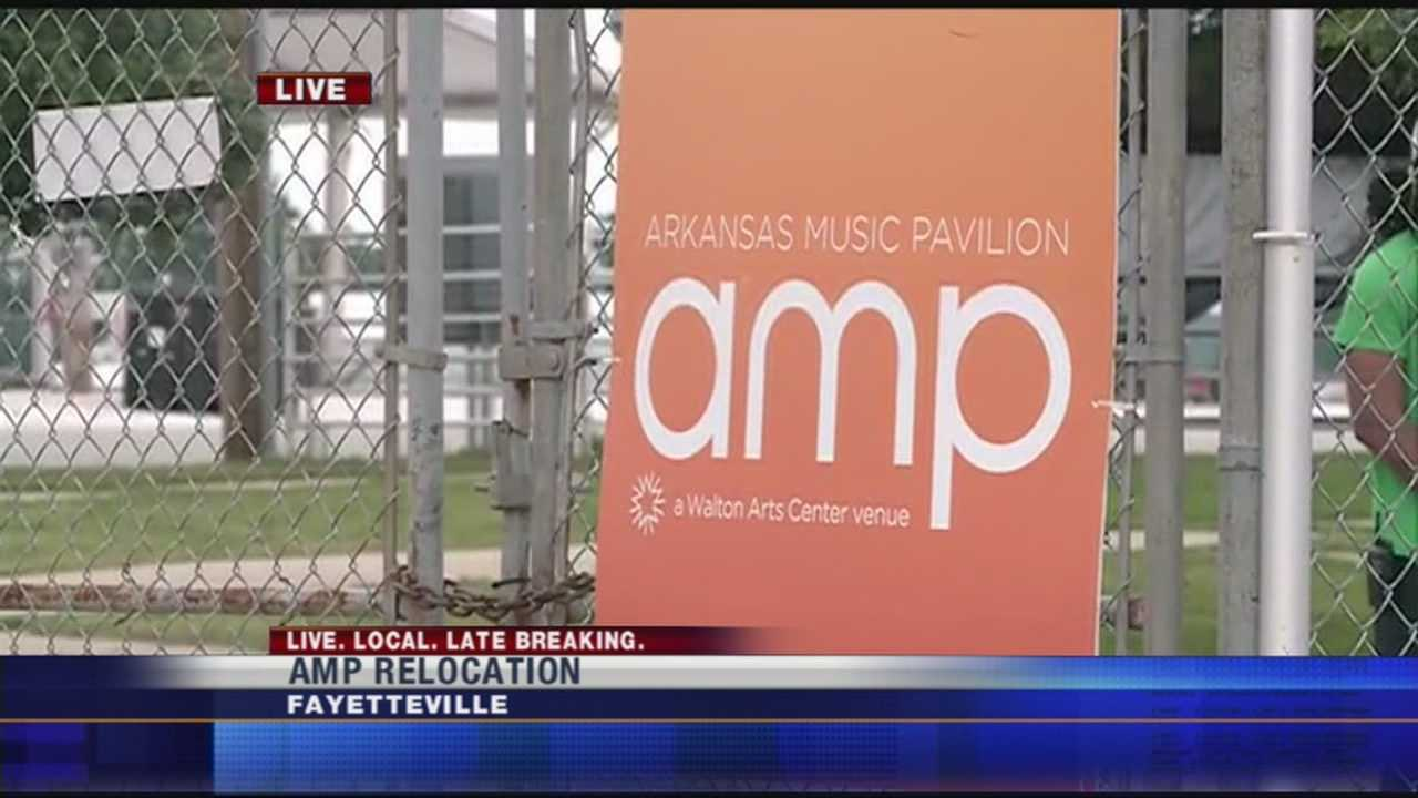 The Arkansas Music Pavilion in Fayetteville may soon have a new home