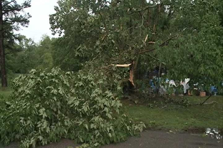 Emergency management officials said three tornadoes touched down in Polk County Thursday in Cove, Hatfield and Wickes.
