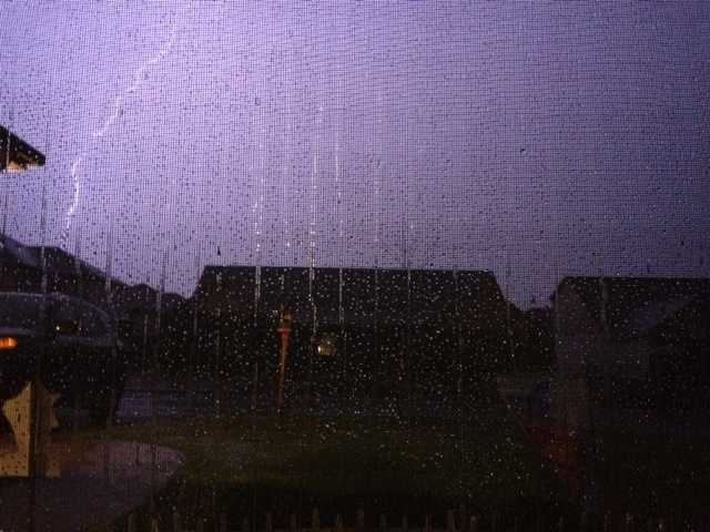 Rain in Centerton.