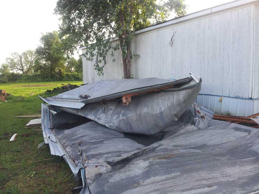 Wind damage in Siloam Springs.