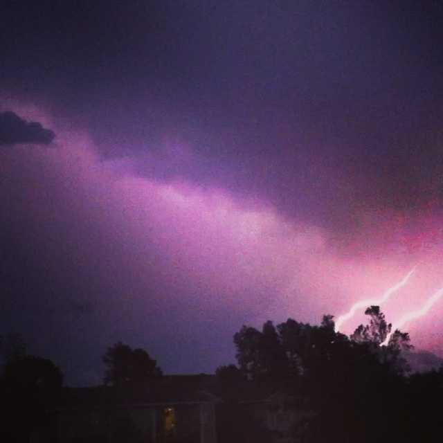 Lightning in Springdale.
