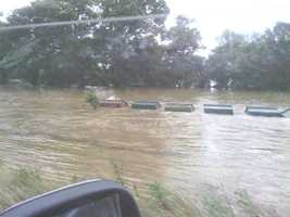 Flooding in Hodgen, OK