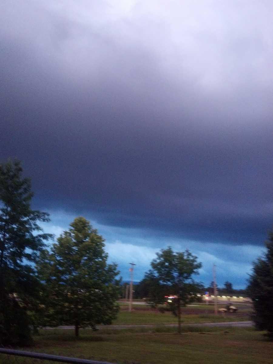 Dark clouds in Poteau, OK