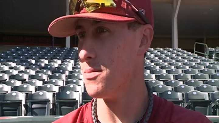 Arkansas infielder Dominic Ficociello