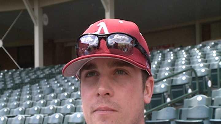 Former Razorback pitcher Barrett Astin