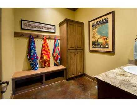 This mud room is the perfect space to kick off your shoes and make yourself at home.