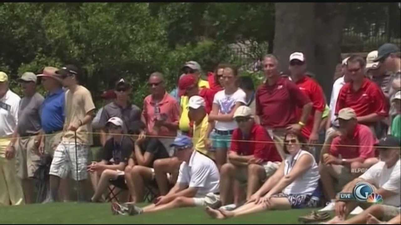 Nearly 150 pro golfers from around the globe are teeing off in our area this weekend, and they're drawing in some pretty big crowd, and that means a boost for our local economy