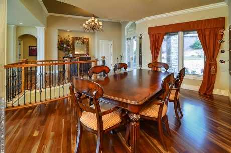 Enjoy a nice home cooked meal in this modern dining area.