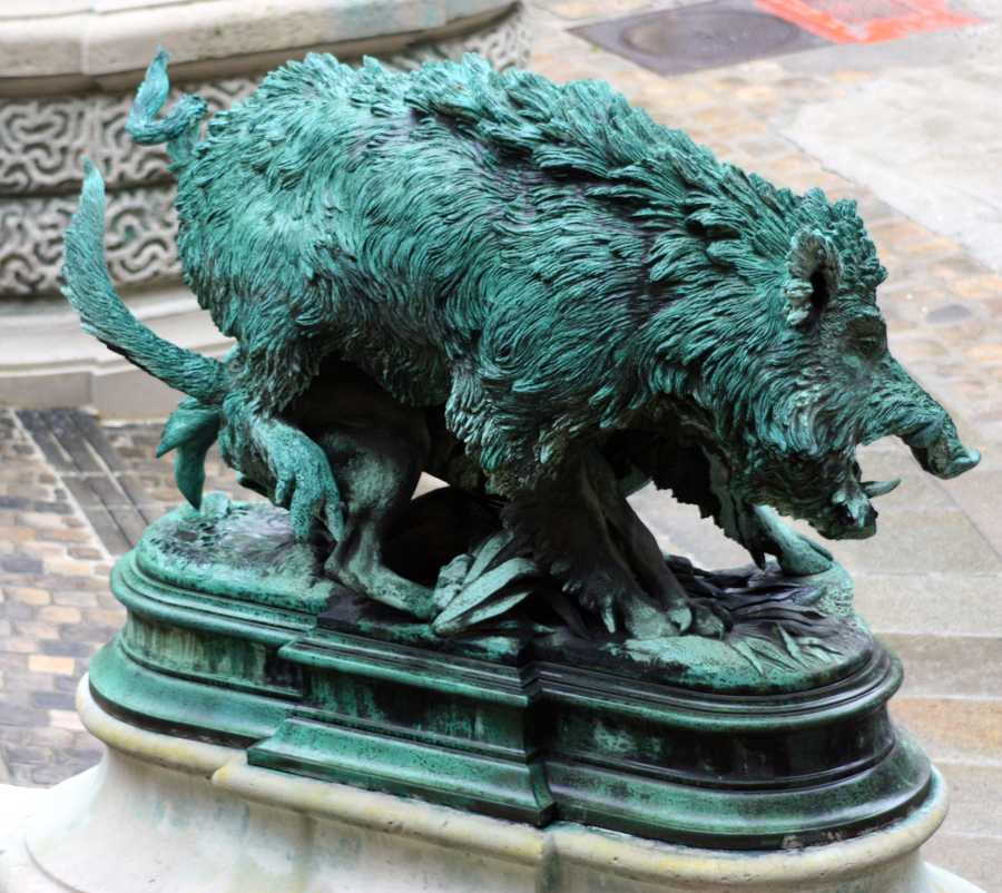 The Louvre is Paris is home to several wild hogs.