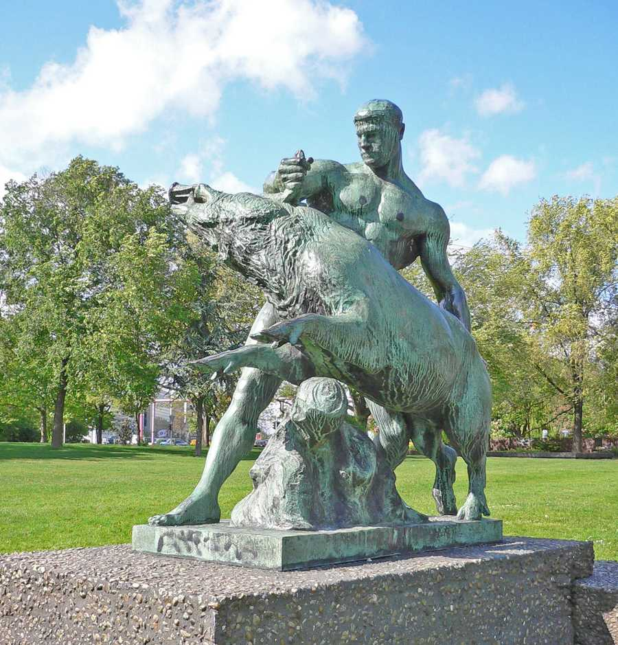 This statue of Hercules is in Berlin.
