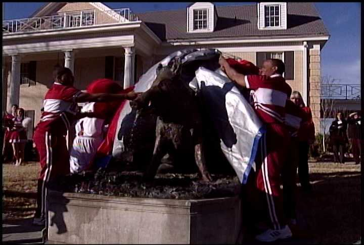 Fayetteville's 'Il porcellino' was unveiled in 2006, and was donated by the Suzie Stephens and Jim Hatfield family.