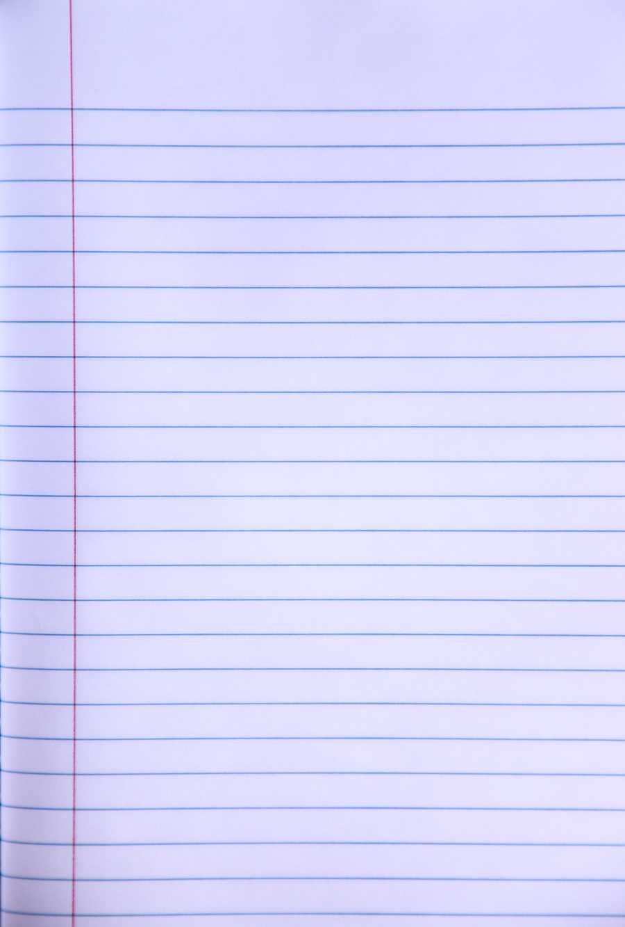 Loose Leaf Ruled Notebook Paper