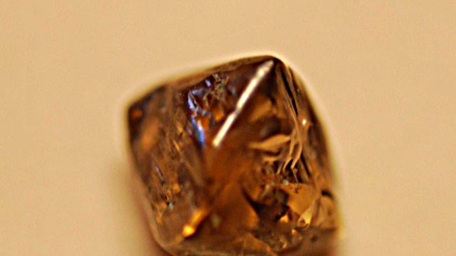 Close-up of the diamond
