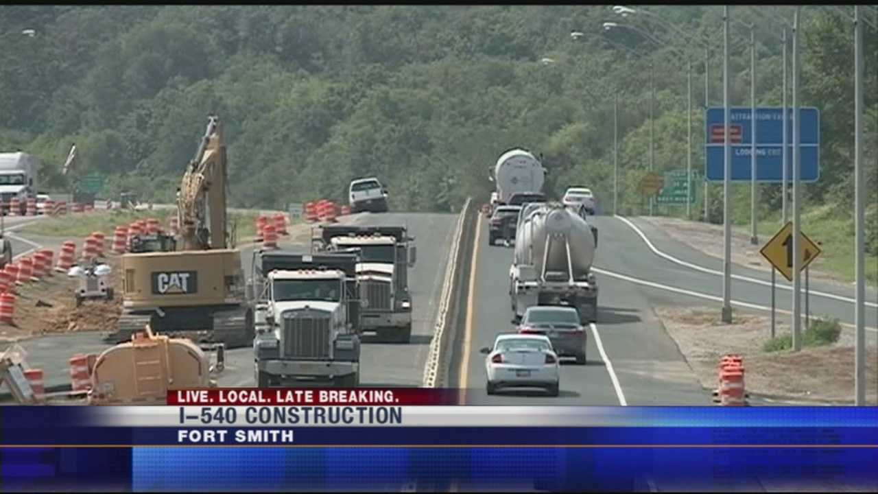 Lanes of traffic through construction on I-540, are getting ready to shift.