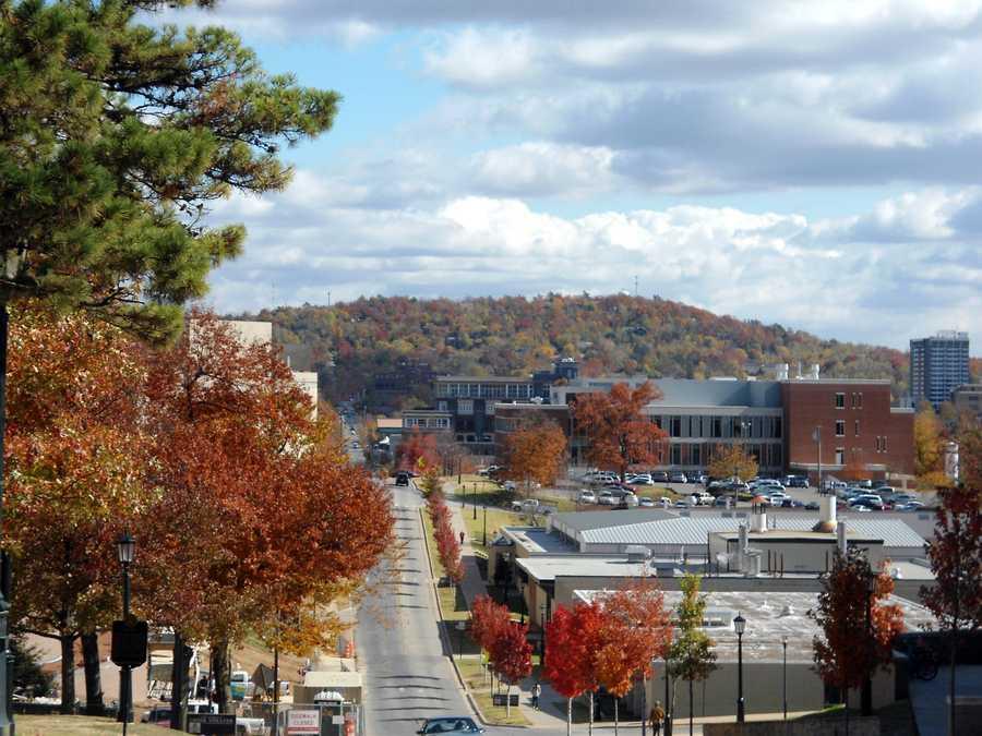 9. Fayetteville, AR (University of Arkansas)