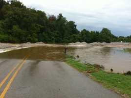 Flooded contstruction site near Hewitt and Elmer
