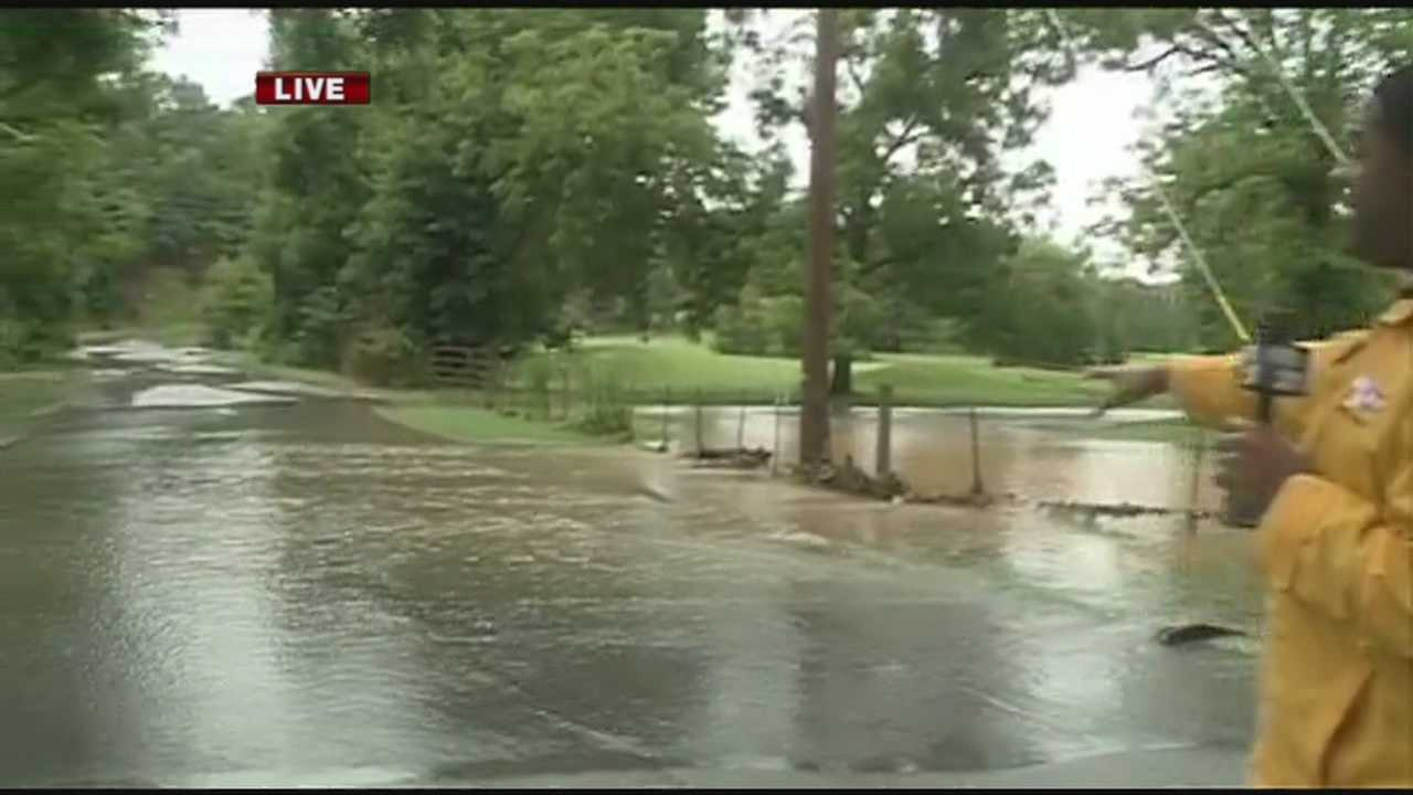 40/29's John Paul reports from the Prairie Creek Country Club in Rogers where much of the area was flooded Thursday.