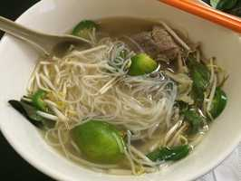 Pho King in Fort Smith! This is one of their bowls of pho.