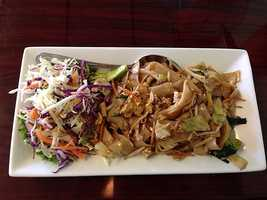 Thai Diner in Fayetteville! This dish is their yummy Pas See-Ew!