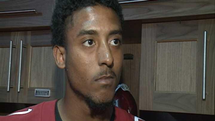 Arkansas wide receiver Demetrius Wilson