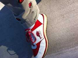 Vintage Razorback shoes