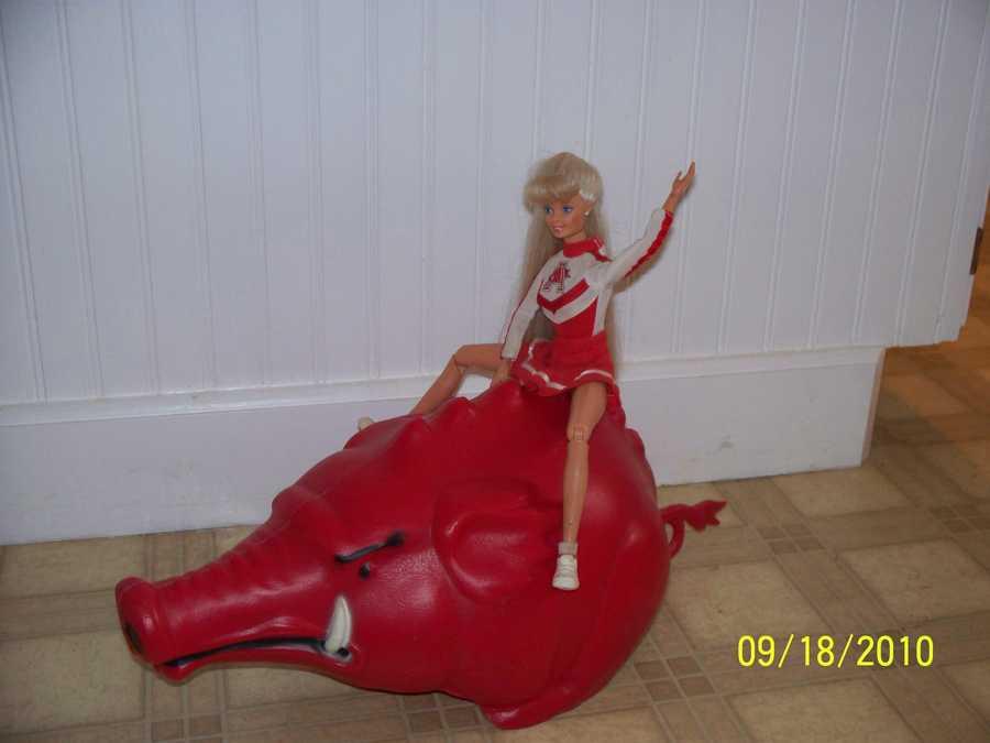 Razorback Cheerleading Barbie