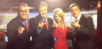 The 40/29 News team loves the Razorbacks! Woo Pig!