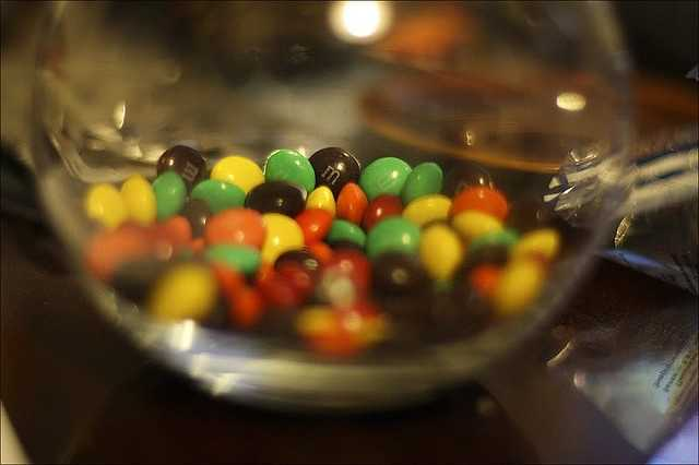 The M&M flavors, Almond and Peanut Butter were developed in the 1990s.