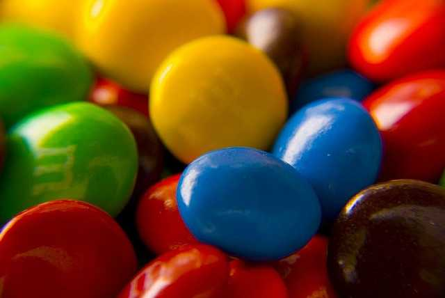 In 2003, the company redesigned the packaging for M&M's. The new package was designed by artist Michael Rios.