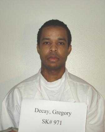 Gregory Decay, age 28, was convicted in 2008 in Washington County of killing Kevin Jones and Kendall Rice in a Fayetteville apartment.