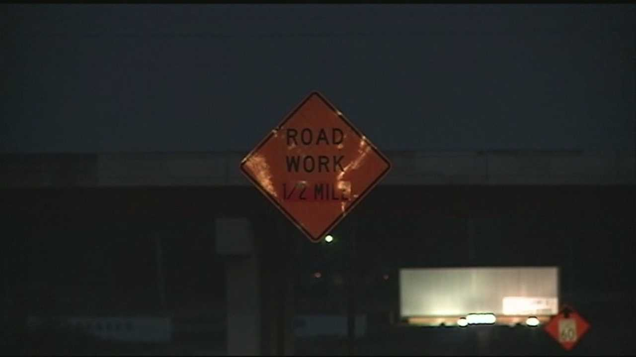 Interstate 540 road work closes lanes