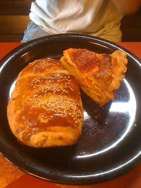 The ham and cheese croissant & quiche are two favorites at the Little Bread Company in Fayetteville.