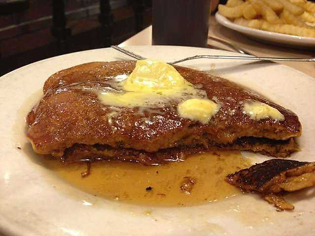 Don't these sweet potato pancakes at Benson's Grill in Fort Smith look tasty?