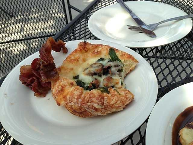 Sink your teeth into this creative mushroom and basil danish at the Briar Rose Bakery & Deli in Farmington.