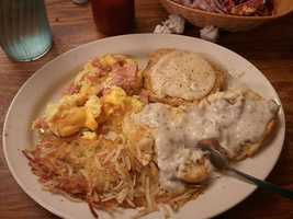 Mmmmm! This is the Giant Country Breakfast at Calico County in Fort Smith.