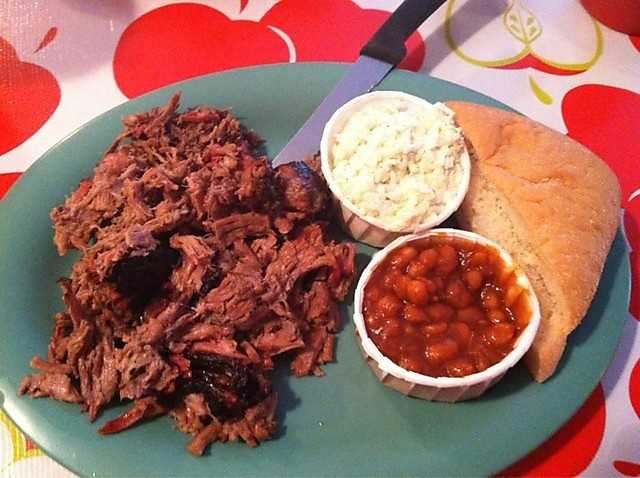 If you are looking for good barbeque in Eureka Springs, Bubba's Barbeque is a great place to go! Be sure to check out their daily specials on their Facebook Page! Pictured here is the BBQ Brisket dinner plate.