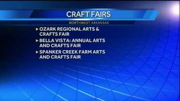 Here are some other craft fairs happening through Sunday in NWA!