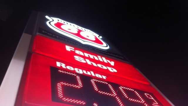 Gas price drop