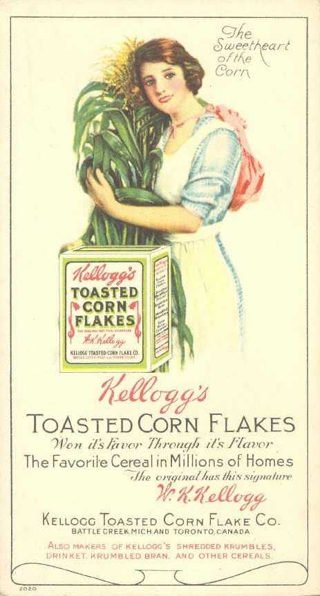Will Keith Kellogg founded the company in 1906 as the Battle Creek Toasted Corn Flake Company.