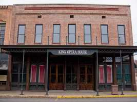 The Ghost of the King Opera House in Van Buren is of a young actor.  Legend says the actor courted a doctor's daughter, but he was murdered when the father learned of their plans to meet.