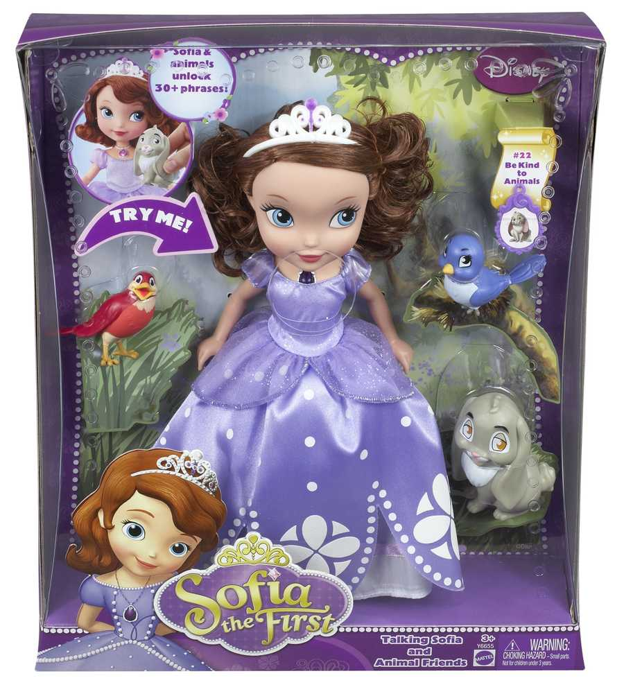 Sofia the First Talking Doll and Animal Friends