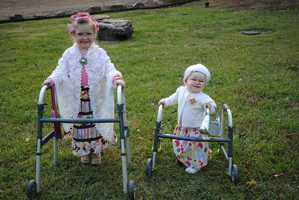 My daughters Chezney (4) and Addalyn (11 months) dressed up as The Golden Girls for Halloween.