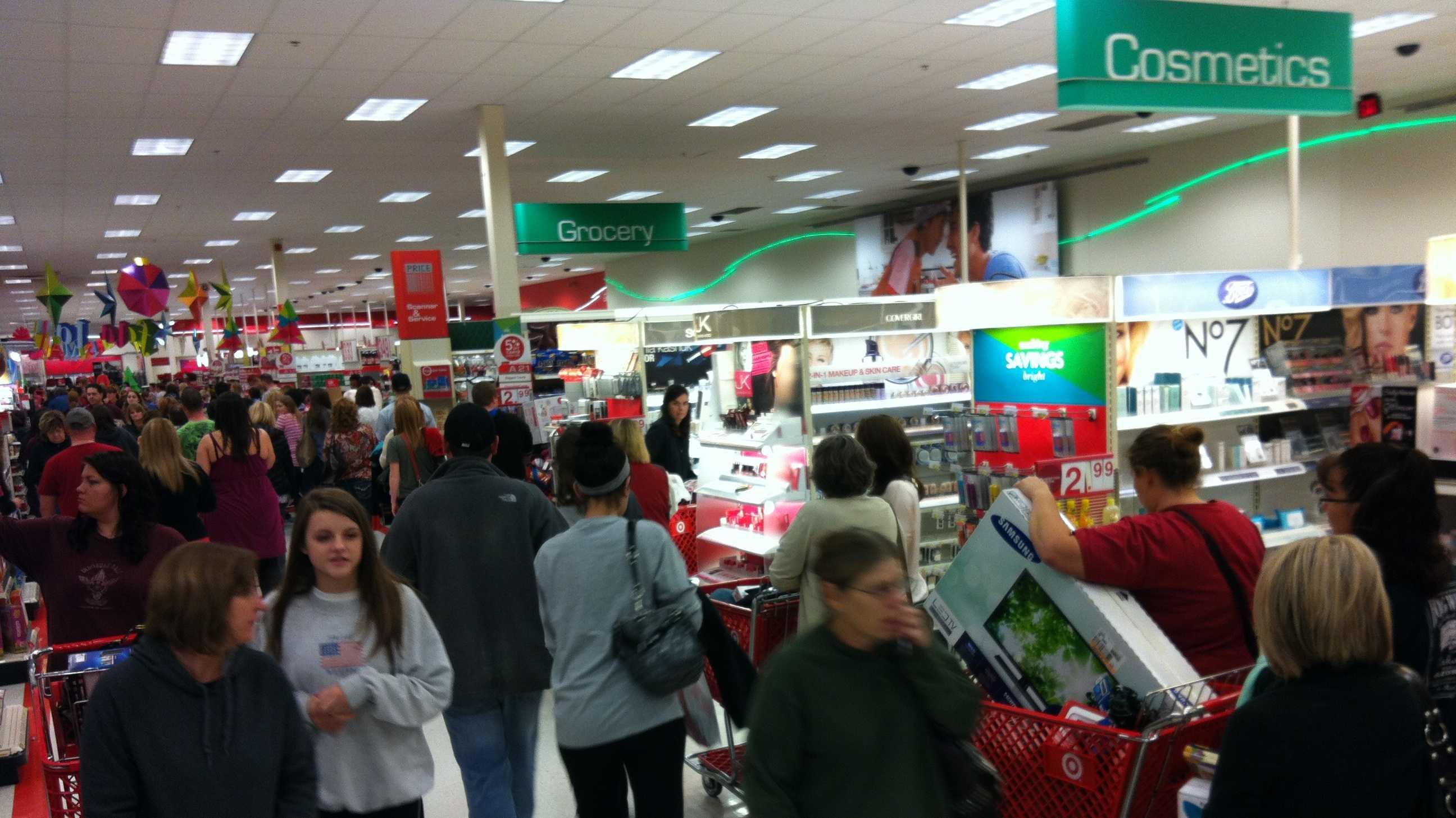 8 p.m. Thanksgiving Day - Target